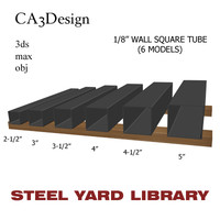 3d 1 wall square tube