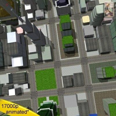 streets city 16 blocks 3d max