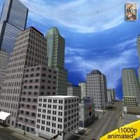 3d model streets city junction