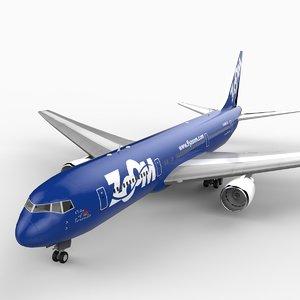 767-300 zoom 3d max