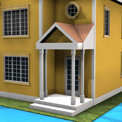 3d model house american modern style