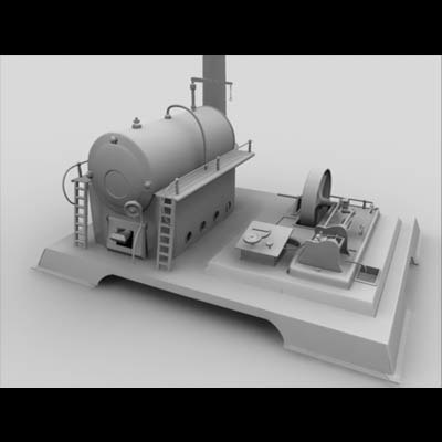 toy engine 3d model