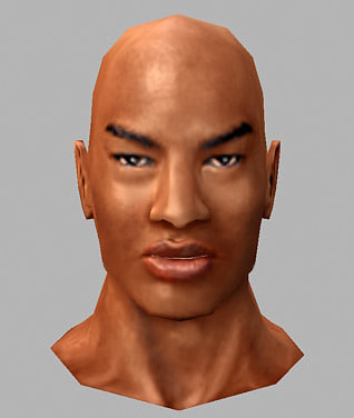 low-poly man head 3d max