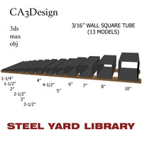 3d 3ds 3 wall square tube