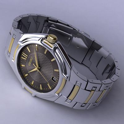 watch seiko 3d model
