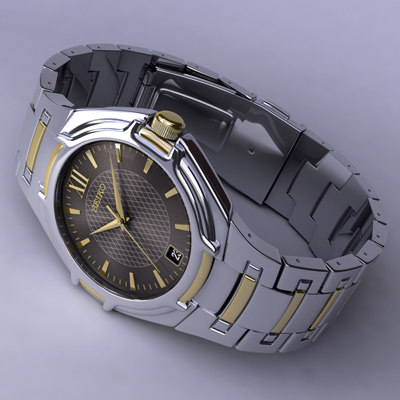 watch seiko 3d model