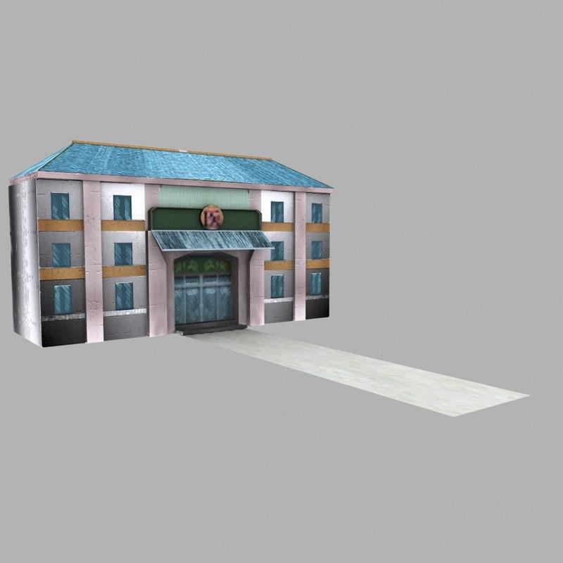 hospital building 3ds