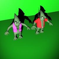 chamelion characters 3d model