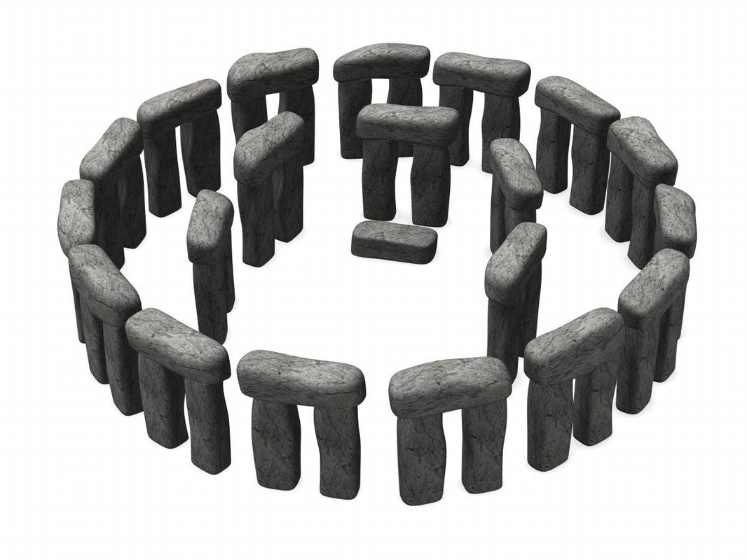 3d model stonehenge stone on Granite Models  id=18246
