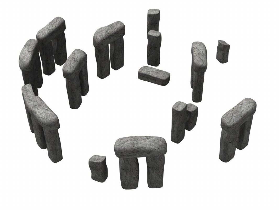 stonehenge old stone 3d model