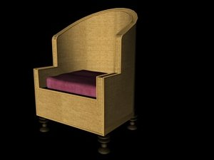 3ds max basket chair cathedra