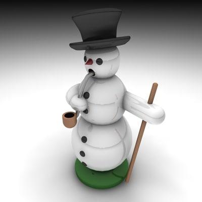 incense snowman 3d model
