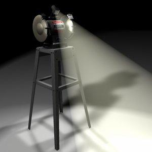 grinder stand 3d obj