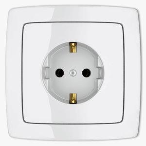 3d power socket model