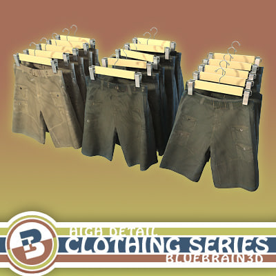 3d clothing - shorts hung