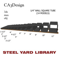 1 wall square tube 3d model