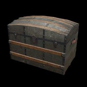3d model old trunk