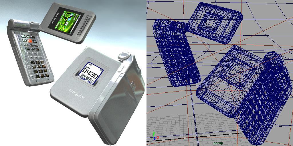 3d model of samsung cellphone
