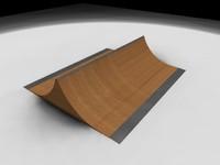 skateboard spine ramp 3d model