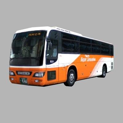 airport limousine bus 3d model