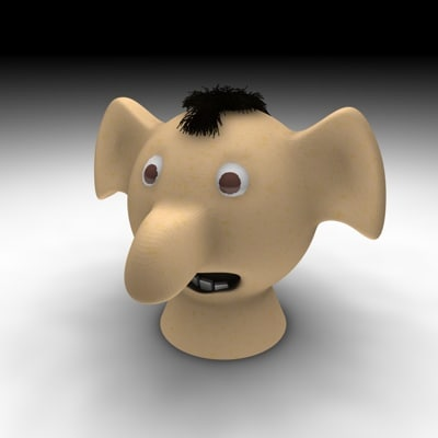 free c4d model head character