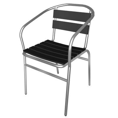 3d metal chair model