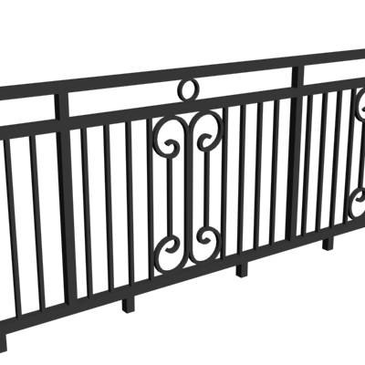 tuscan balustrade 3d model