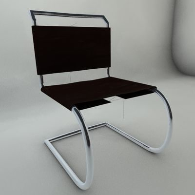 interior chair 3d 3ds