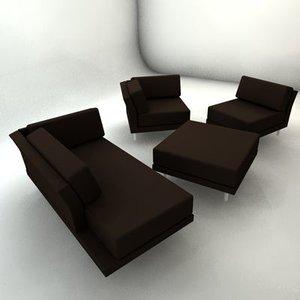 3ds max habitat sofa