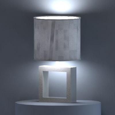 3d model ceramic table lamp