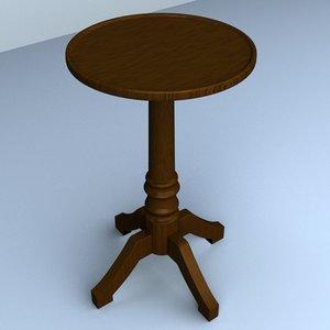 3dsmax pedestal table