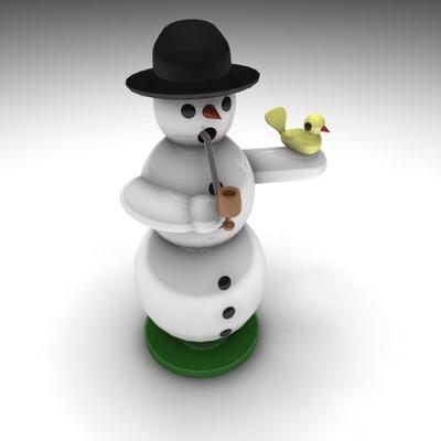 c4d incense snowman