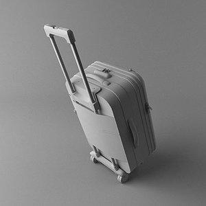 3d roll-aboard suitcase model