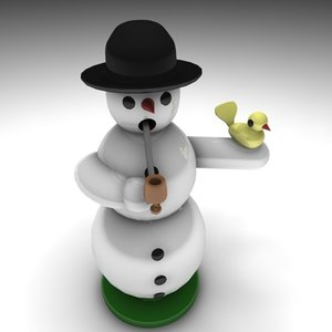 3d model of incense snowman