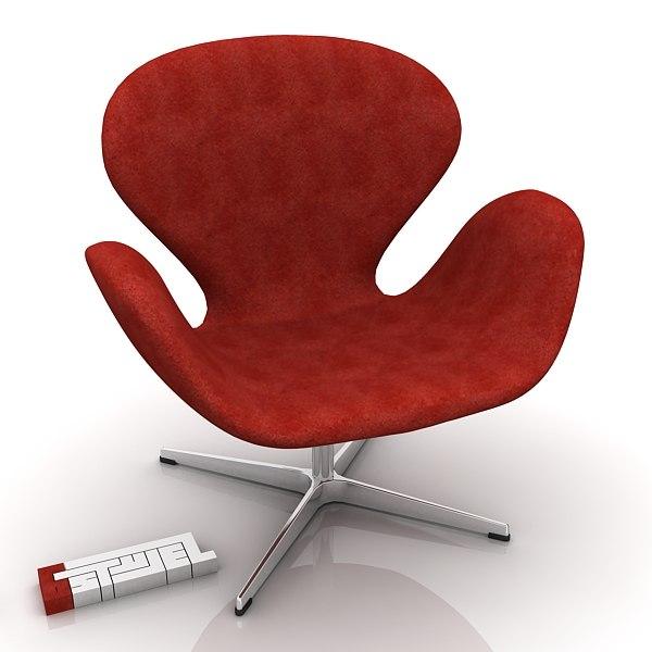 fritz-hansen swan chair 3d max