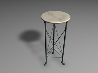 3d patinated table marble