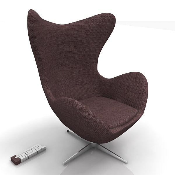 fritz-hansen egg chair 3d model