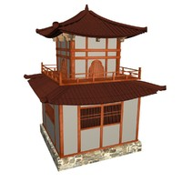 3d model traditional chinese temple