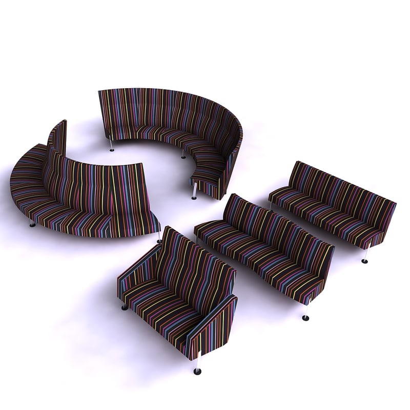 3d model fritz-hansen decision sofa chair