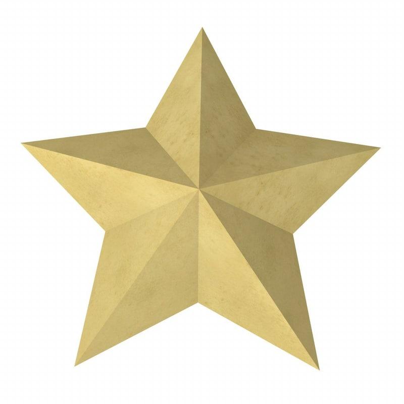 3d star symbol model