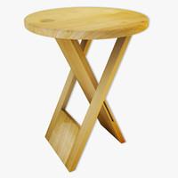 free max model wood stool