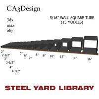3d model 5 wall square tube