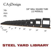3 wall square tube 3d model