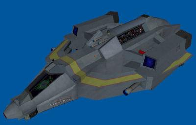3d model crossbow bomber space