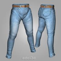 jeans trousers pants 3d model