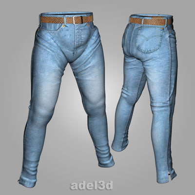 jeans trousers pants 3d model