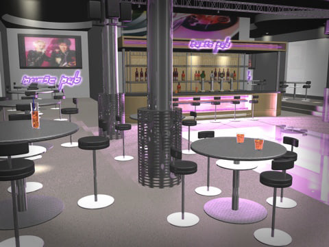 modern pub 3d model