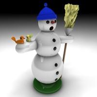 3d model of snowman