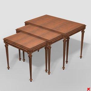 table nesting 3d model