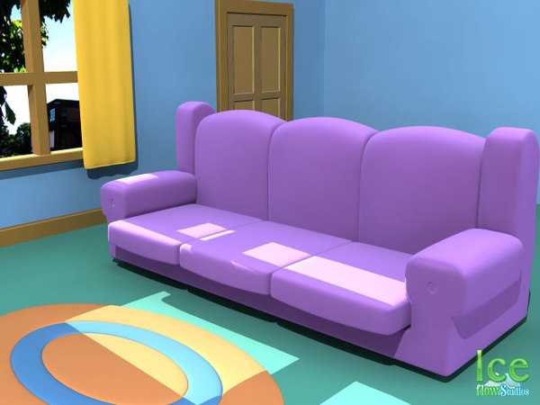 couch family guy 3d model
